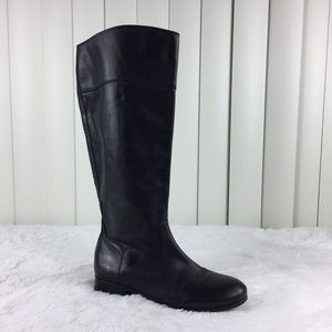 Arturo Chiang Cosmow Black Leather Tall Boots 7